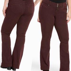 Torrid | Maroon Flare Jeans